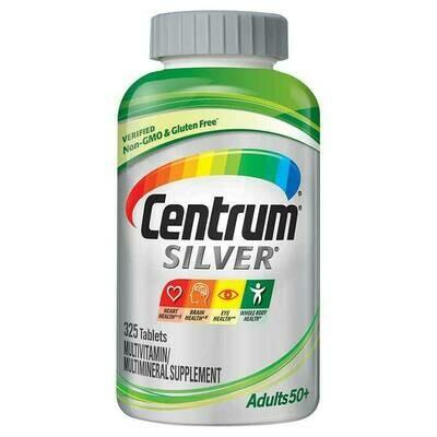 መልቲ ቫይታሚን ከ50 ዓመት  በላይ ለሆኑ Centrum Silver Adults 50+ Multivitamin, 325 Tablets