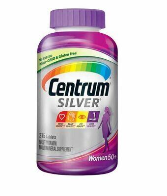መልቲ ቫይታሚን ከ50 ዓመት በላይ ለሆኑ ሴቶች  Centrum Silver 50+ Women, 275 Tablets