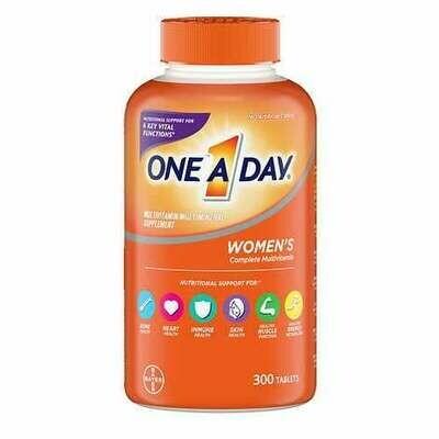 በቀን አንድ መልቲ ቫይታሚን ለሴቶች One A Day Women's Multivitamin, 300 Tablets
