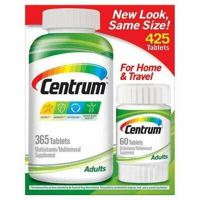 መልቲ ቫይታሚን Centrum Adults Multivitamin, 425 Tablets