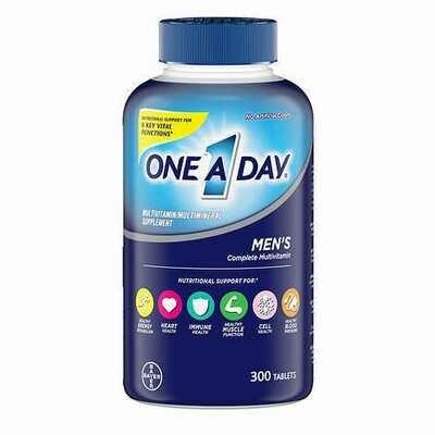 በቀን አንድ መልቲ ቫይታሚን ለወንዶች  One A Day Men's Multivitamin, 300 Tablets