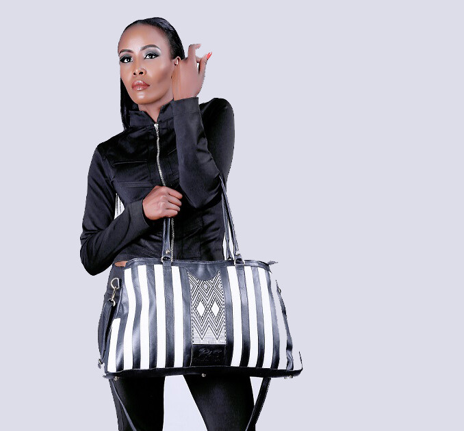 Zebra collection leather Bag