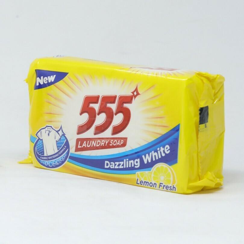 555 የልብስ ሣሙና የሎሚ ጠረን / 555 Laundry Soap Lemon Fresh 250g