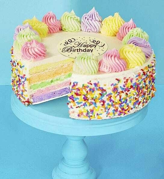 Happy Birthday Rainbow Cake (USA)