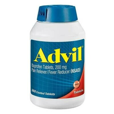 Advil Ibuprofen 200 mg., Pain Reliever/Fever Reducer, 360 Tablets