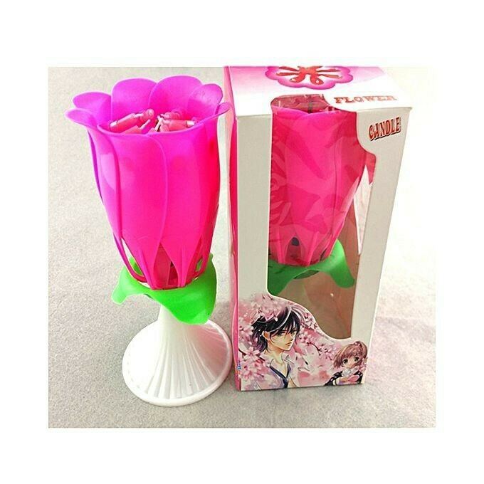 Rubian Intellectual Birthday Rose Candle - Pink