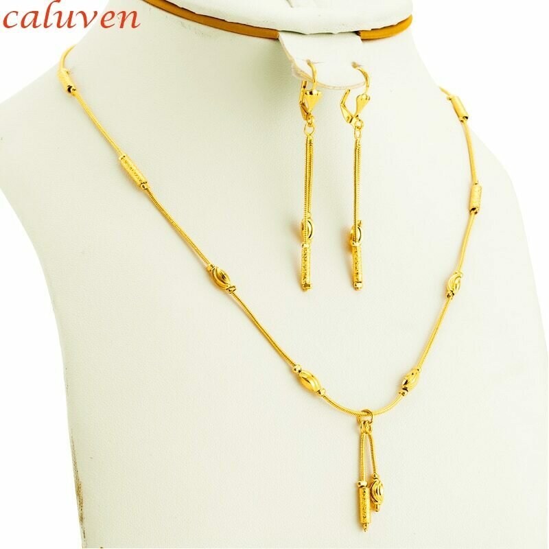 Jewelry-Sets Beads Ethiopian Gold-Color Women Round Party-Decoration