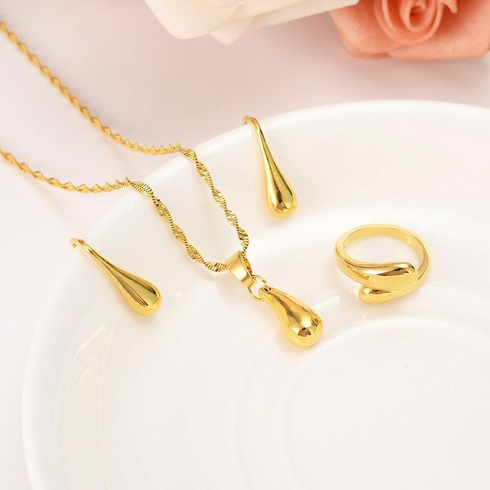 Ring Jewelry Pendant Necklace Ethiopian Gold-Set Eritrea Bride Wedding Women African