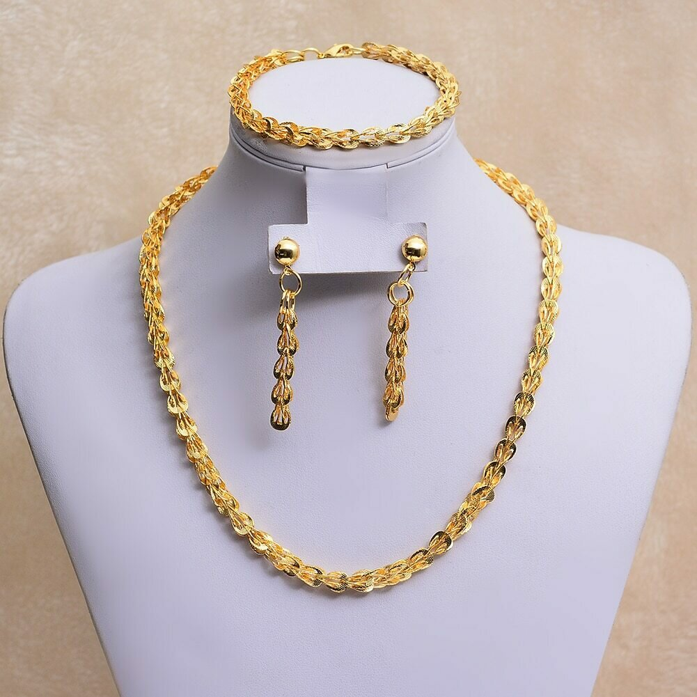 Necklace Earrings Jewelry-Sets Phoenix-Tail WANDO Gold-Color Wedding-Gifts/ethiopian
