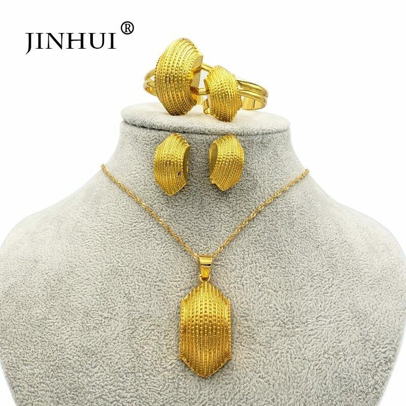 Jewelry-Sets Earring-Ring Pendant Necklace Ethiopian Habesha Bridal-Set Eritrea Dubai
