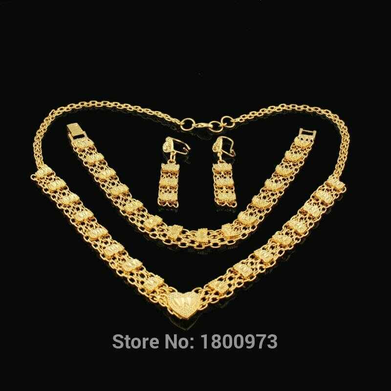 Wedding-Jewelry-Sets Necklace Ethiopian Traditional African Gold-Filled Women