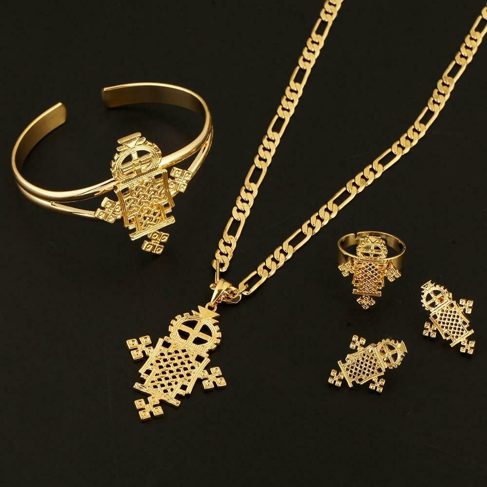 Ethiopian Religious Coptic Crosses Jewelry African Wedding Jewelry Setz