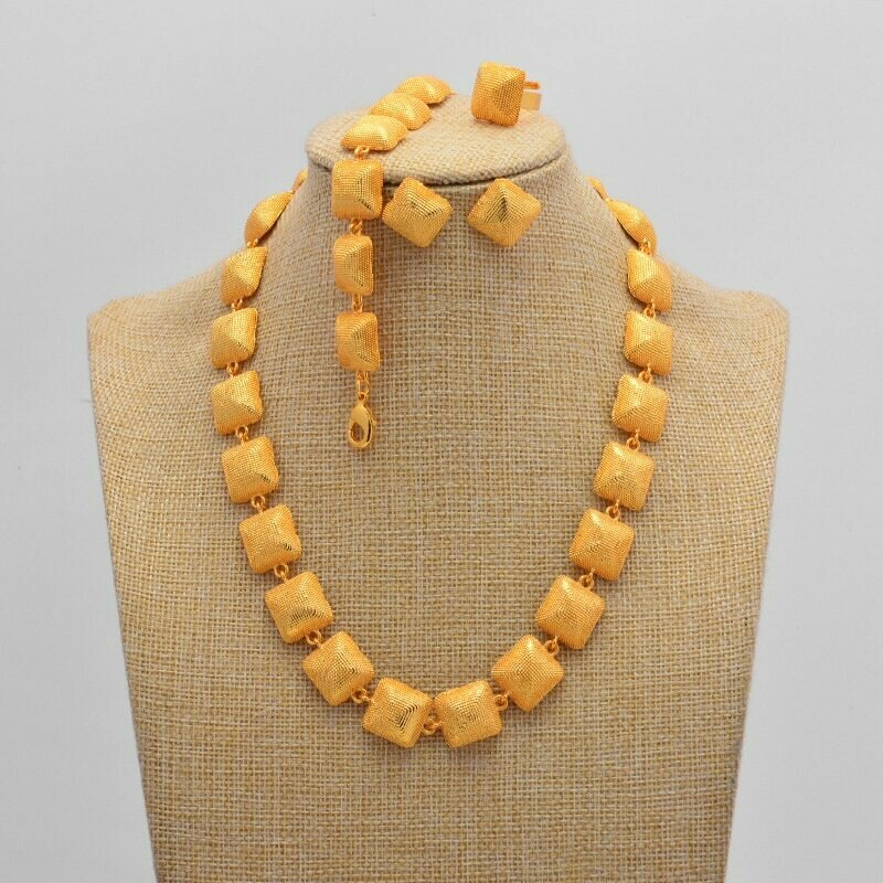 Jewelry-Sets Earrings Ethiopian Gifts Women Necklaces Dubai Eritrean Wedding Gold-Color