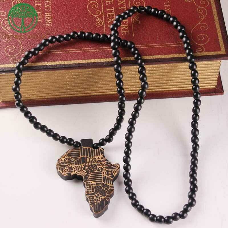 Ethiopian Jewelry Pendant Africa Necklace Wooden Chain Gift Men/women Trendy
