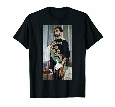 T-Shirt Tee Haile Emperor Ethiopian 20th 40th 50th Birthday Selassie 30th
