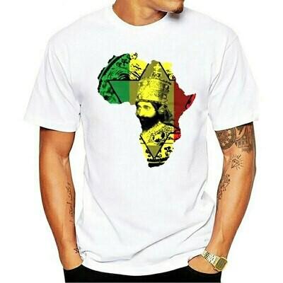 T-Shirt King African Tee Reggae Haile Ethiopian Classic-Style Rastafarian Judah Fashion
