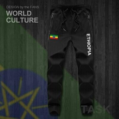 Sweatpants Jumpsuit Ethiopian-Horn Tactical Joggers Track-Sweat Fitness-Fleece Casual