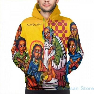 Mens Hoodies Sweatshirt Orthodox Christ Icon Streatwear Women Print Casual for Funny