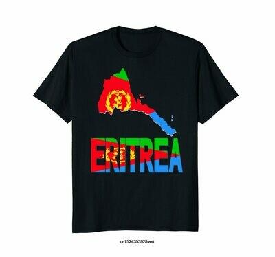 Funny men t shirt novelty tshirt women Eritrea map Eritrean flag Africa T-shirt