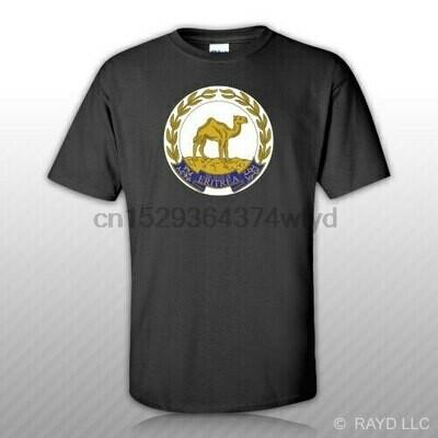 Eritrean Emblem T-Shirt Tee Shirt Free Sticker Eritrea flag ERI ER