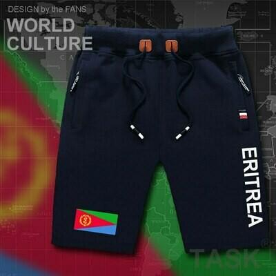 Board Shorts Eritrea Zipper-Pocket Sweat-Bodybuilding Workout Men's Cotton Beach-Man