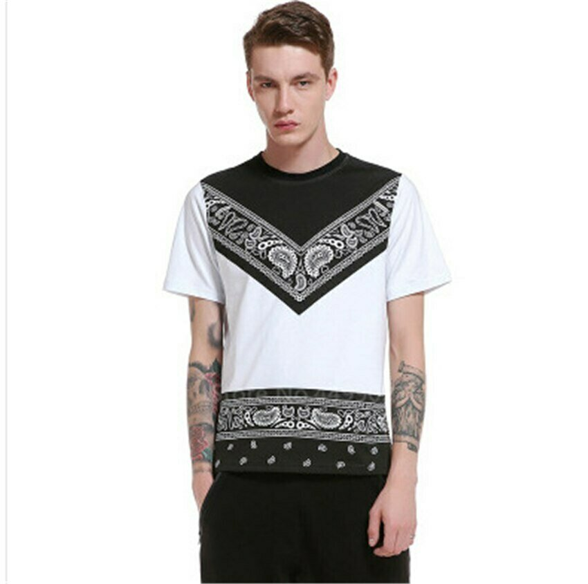 Print-Shirt Africa-Clothes Traditional Dashiki Patchwork Male Ethnic Short-Sleeve Hip-Hop