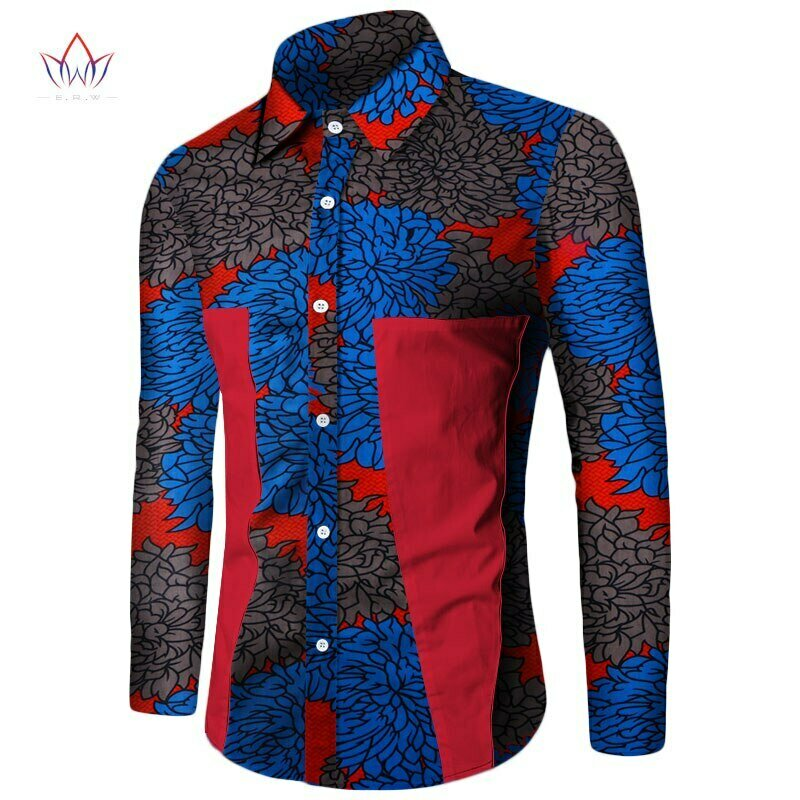 African Shirt Dashiki Patchwork Long-Sleeve Casual-Style Plus-Size New Summer for Men