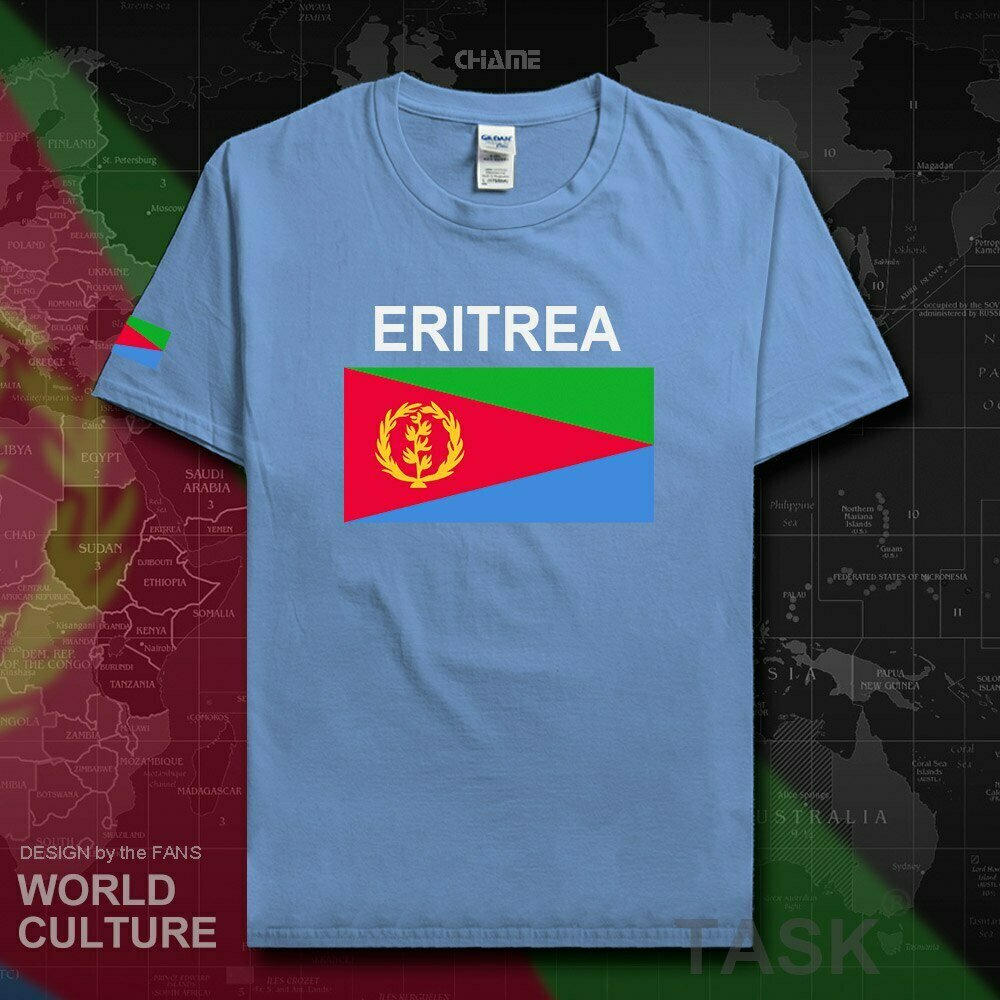 T-Shirt Fashion Nation-Team Eritrea Tees Jersey Men Sporting Cotton 02 Flag Country Gyms