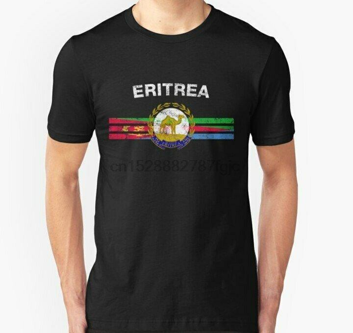 Eritrean Flag Tshirt Short-Sleeve Emblem Men