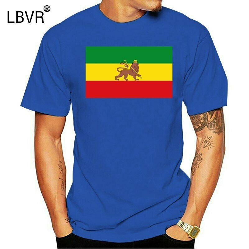 Clothing Ethiopian Flag Short-Sleeve T-Shirt Roots Printed Summer-Style Cotton O-Neck