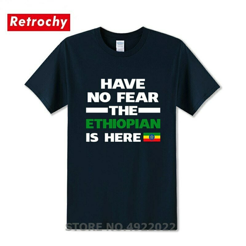 T-Shirt Birthday-Gifts Here Printed Party Bro No Flag Letter Ethiopian Classic No-Fear