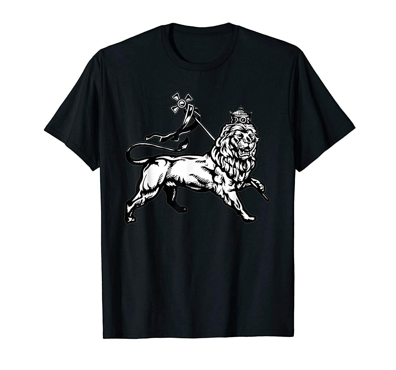 Ethiopian Rasta gift Lion of Judah With Ethiopian Cross T-Shirt