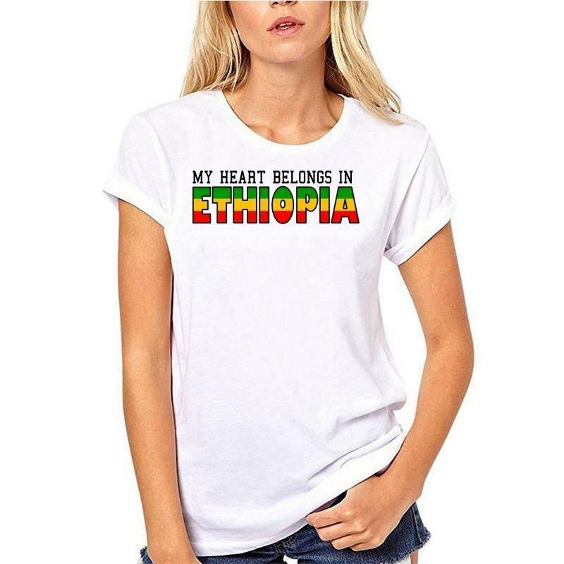 T-Shirt Ethiopian Graphic Joke Gifts Mens Funny Women Newest No Crew Slogan Cool Neck-Less