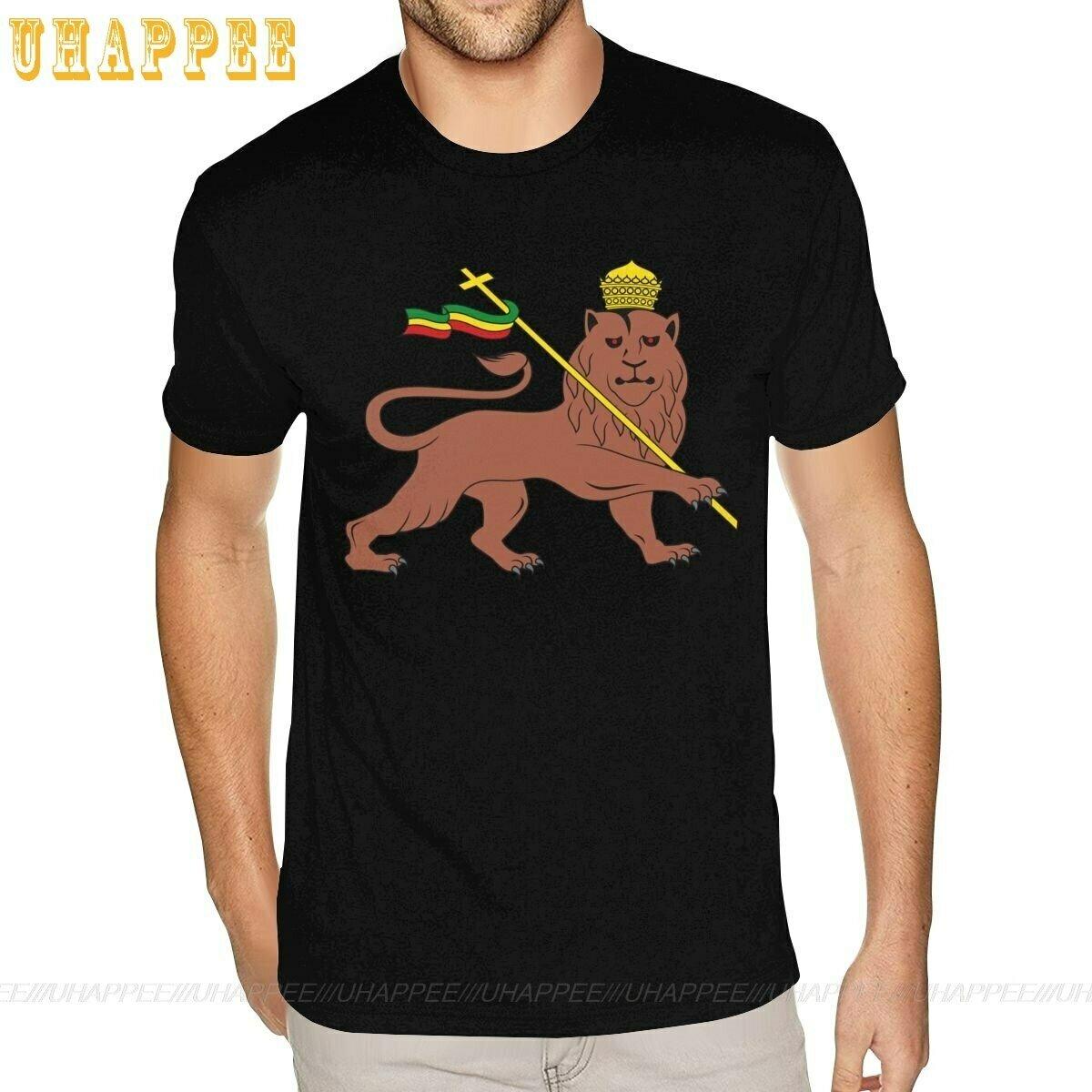 Lion Of Judah Ethiopian Custom Tee Shirt 5XL Boyfriend's Online Tshirt