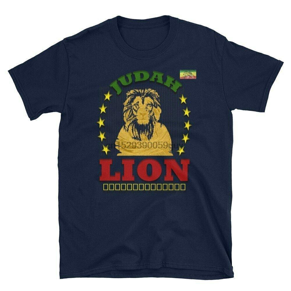 Ethiopian Shirt Short-Sleeve Reggae Rasta Jamaica Unisex