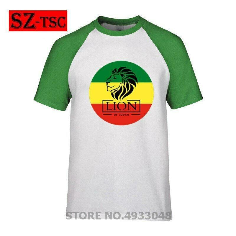 T-Shirt Men Reggae 30-Colors Flag Empire Ethiopian Lion of Judah Rastafari Hot-Sale Fashion