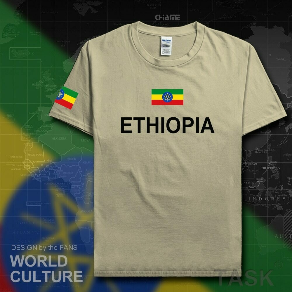 Mens T-Shirts Clothing Ethiopian Jerseys Nation-Team Sporting Cotton Tee-Country Fashion
