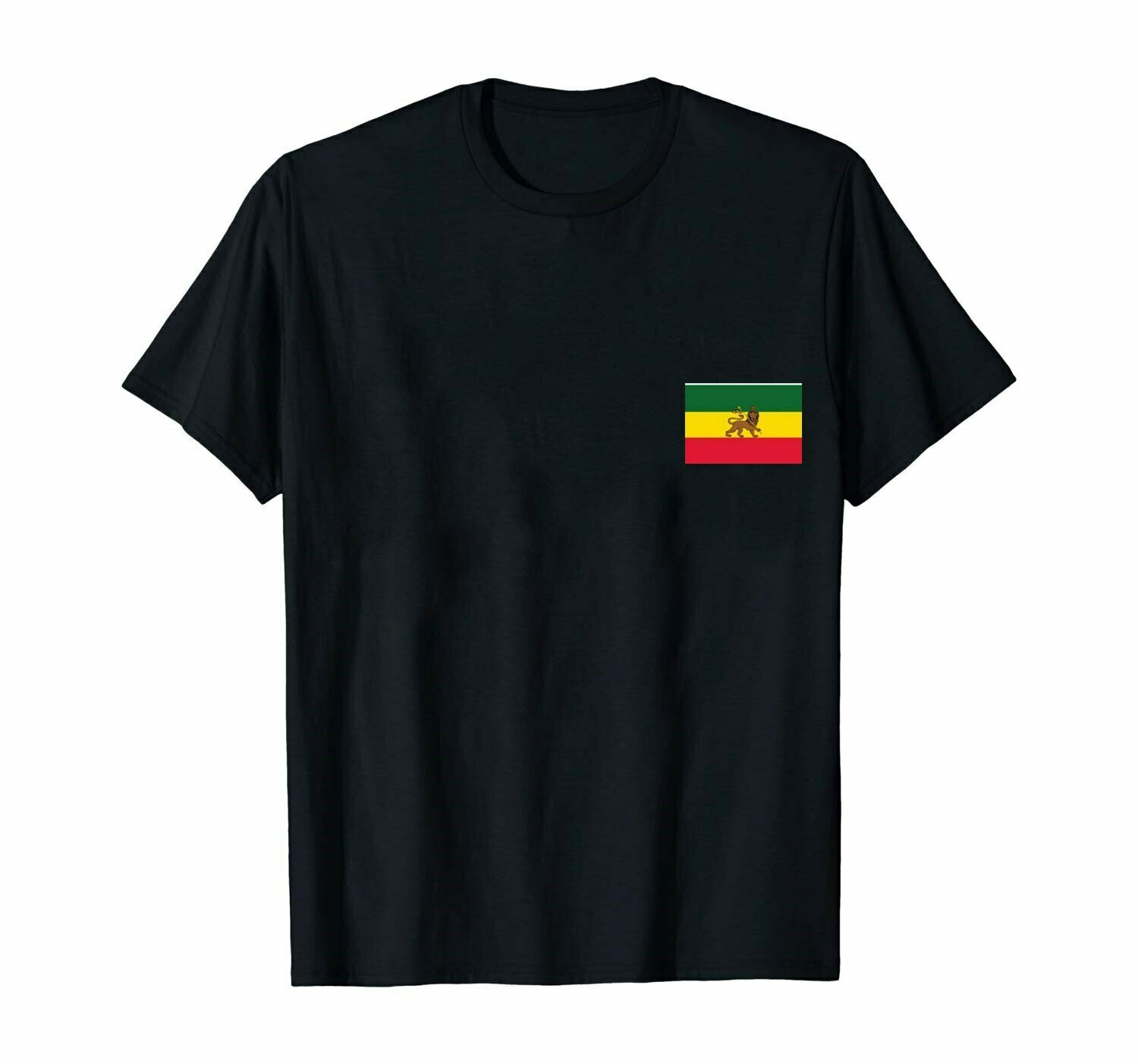 T shirt Ethiopian Lion of Judah Flags