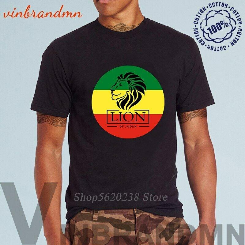 Men T-Shirts Clothing Reggae Ethiopian Cotton High-Quality Summer Tee Flag Empire-Tops