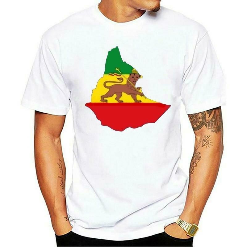 Woman T-Shirts Touring Funny Designer Flag-Map Empire Ethiopian Motorrad Filles Photos