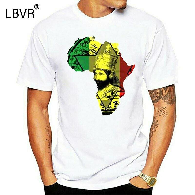 T-Shirt Ethiopian Jamaican King Rastafarian Tee Reggae Haile Classic-Style Judah Fashion