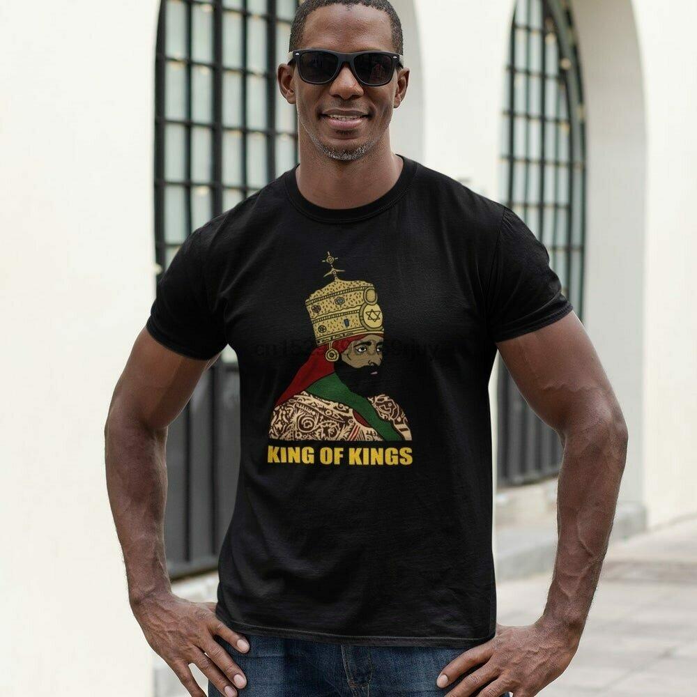 Rastafari-Shirt Ethiopian Short-Sleeve King Flag Emperor Lion King-Of-Kings Jamaica Judah