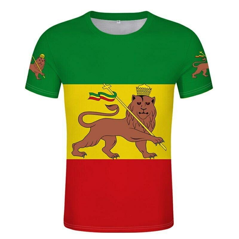Judah-Flags T-Shirt Numbering for Decoration DIY Free-Custom Name Ethiopian Print Photo-Costume
