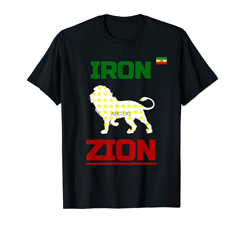 Ethiopian Flag In Heart- Iron Lion Zion- Reggae- Rasta T-Shirt