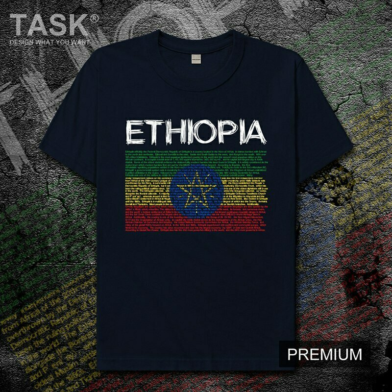 Mens T-Shirt Short-Sleeve National Africa Fans Tops Ethiopian-Horn Team-Country of New