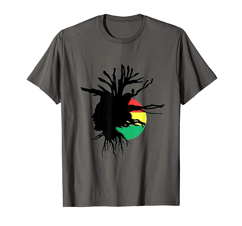 Rasta Shirt Dreads Ethiopian Flag Reggae Roots Clothing