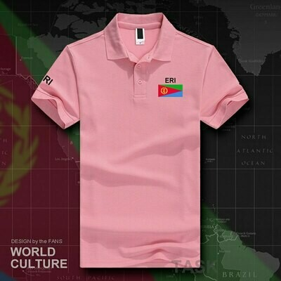 Polo-Shirts Eritrea Short-Sleeve Cotton Brands-Printed New-Fashion White for Country