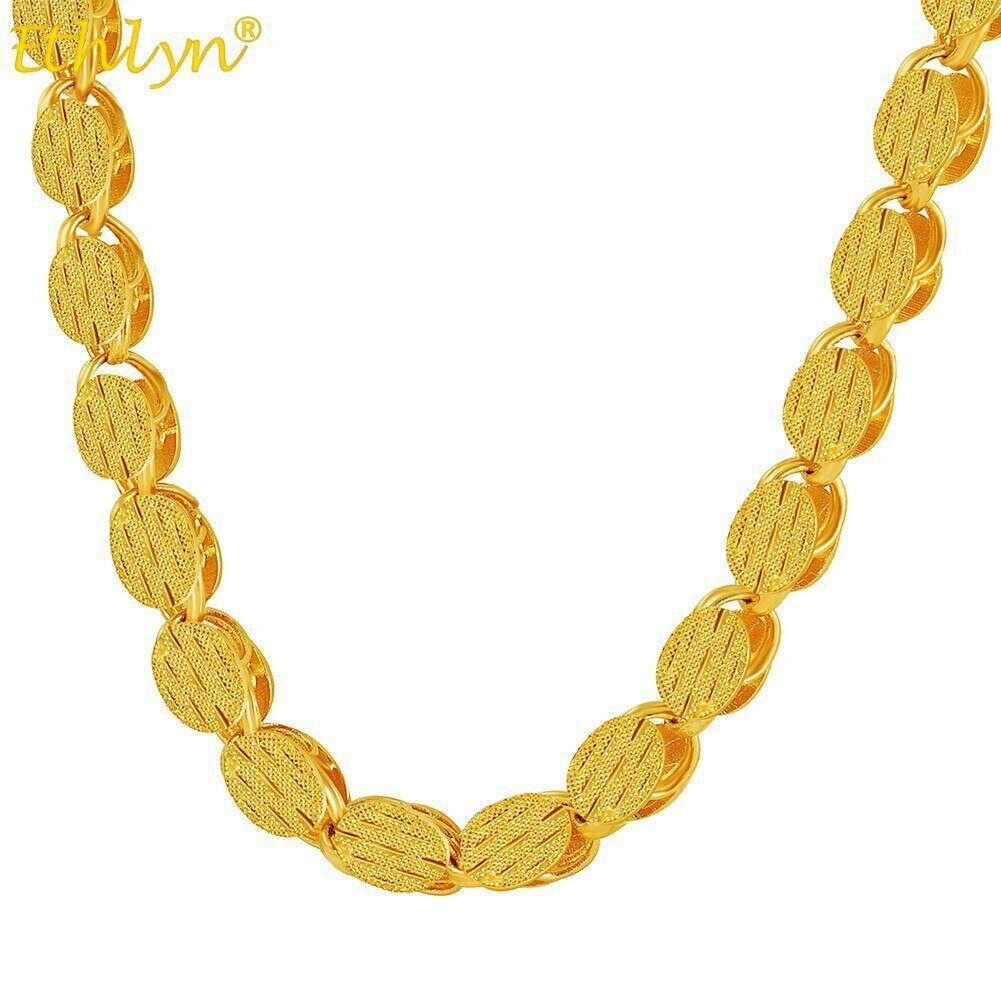 Gold-Color Ethiopian/Africa/eritrea Necklaces Women Chain Thick Ethlyn 60CM 7MM MY17
