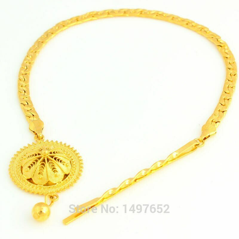 Jewelry Ethiopian Habesha 24k-Gold-Color Eritrea/kenya Hair-Chain Women Party Party-Accessories