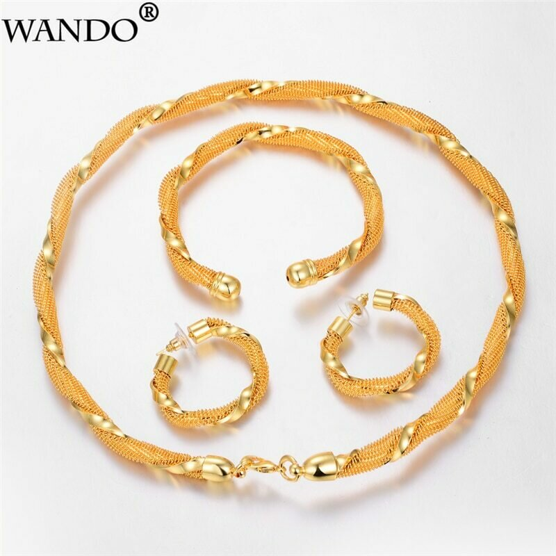 Jewelry-Sets Bangle-Ring Ethiopia WANDO Bridal Gold-Color Africa/arabia-Items